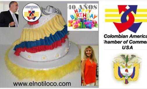 Los colombianos en Miami, hoy festejan los 40 años de la Camara