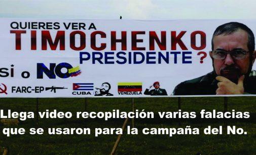 Llega video recopilación varias falacias que se usaron para la campaña del No.