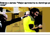 """e Zidane a James: """"Mejor aprovecha tu domingo para ir a votar"""""""