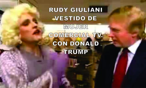 El día que Rudy Giuliani se vistió de mujer en comercial con DonalD Trump