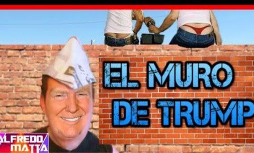 Parodia de cómo va ser el muro en la frontera según Notiloco