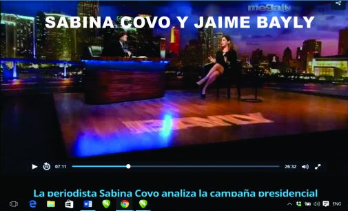 La periodista Sabina Covo analiza la campaña presidencial junto a Jaime Bayly.