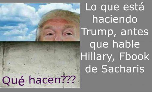 Lo que está haciendo Trump antes que hable  Hillary segun Sacharis