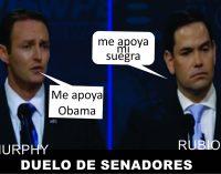 Al senador Al senador Murphy  lo recomienda Obama, a Rubio la suegra, algunos chistes