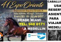 A  Medellin con America Travel  305 948 0171 exposición de caballos programa aqui