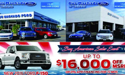 En Gus Machado Ford con 119 us mensuales  hágase a un carro nuevo