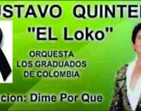 Murio el cantante Gustavo Quintero hoy en Medellin