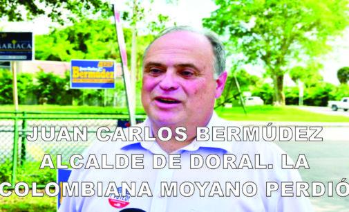 Juan Carlos Bermúdez alcalde de Doral. La colombiana Moyano perdió
