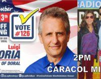 Luigi Boria hoy 2 pm. con Mario Andres Moreno,  link de Caracol 1260 am  305 857 0037