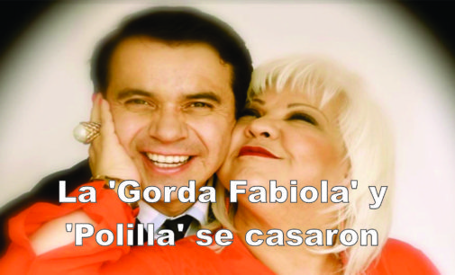 La 'Gorda Fabiola' y 'Polilla' se casaron por la iglesia