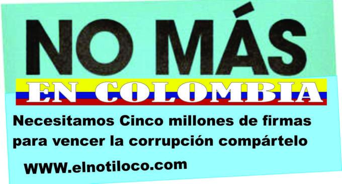 NecesitaMos Cinco millones de firmas para vencer la corrupción compártelo