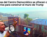 Militantes del Centro Democrático se ofrecen como voluntarios para construir el muro de Trump