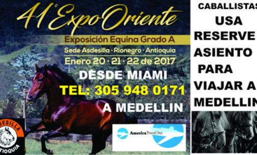Viaje enero exposición equina Asdesillas Rionegro con America Travel 305 948 0171