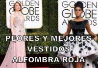 Los peores y mejores vestidos, Alfombra Roja premios Globo de Oro