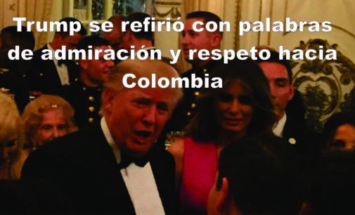 Trump se refirió con palabras de admiración y respeto hacia Colombia