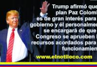Trump le dice a Santos que pa'lante mijo con la paz