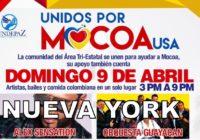 Nueva York, con Mocoa, este domingo con rumba, comida, recogerá donaciones en dinero