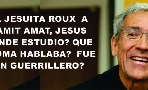 El jesuita Roux  a  Yamit Amat, ¿Jesus donde estudio? ¿Que idioma hablaba?¿ pudo ser guerrillero?