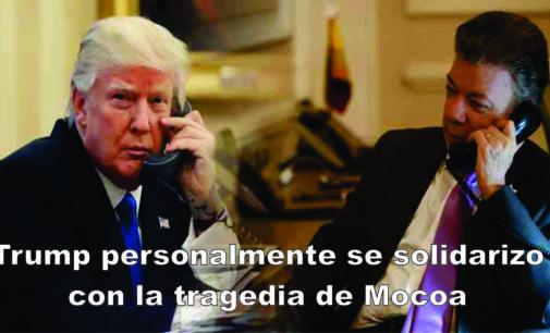 Trump personalmente se solidarizo con la tragedia de Mocoa
