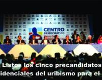 Listos los cinco precandidatos presidenciales del uribismo para el 2018