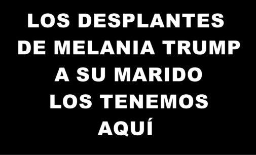 Los desplantes de Melania Trump a su marido los tenemos aquí