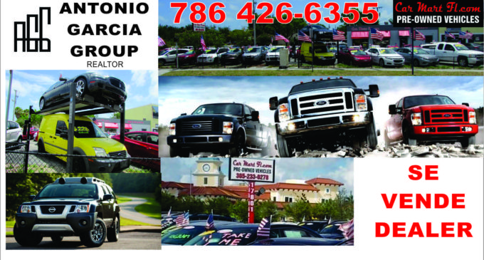 Se vende Dealer de carros, Antonio Garcia 786 426 6355