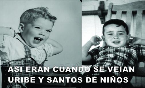 Asi pasaban las vacaciones en Bogota Uribe y Santos.