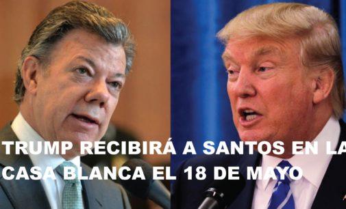 Trump recibirá a Santos en la Casa Blanca el 18 de mayo