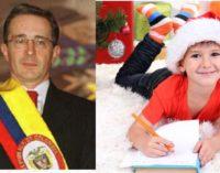 Uribe contesto carta que iba para el niño Jesus