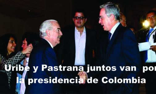 Uribe y Pastrana van juntos de la mano por la presidencia de Colombia