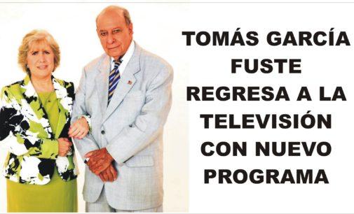 Tomás García Fuste regresa a la televisión con nuevo programa