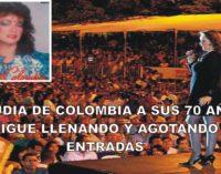 Claudia de Colombia a sus 70 años sigue agotando boletería