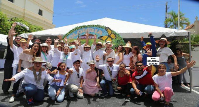 Equipo del consulado de Miami, coordino la colosal fiesta independencia