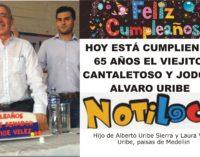65 años esta cumpliendo hoy el Viejito, Cantaletoso y Jodon, Alvaro Uribe jajaj