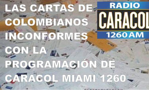 Las cartas de colombianos inconformes con la programación de Caracol Miami
