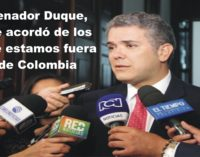 Ivan Duque el senador, que se acordo que hay colombianos en el exterior