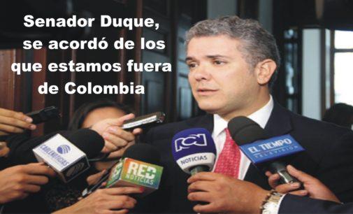 Ivan Duque el senador, que se acordo que hay colombianos en el exterior