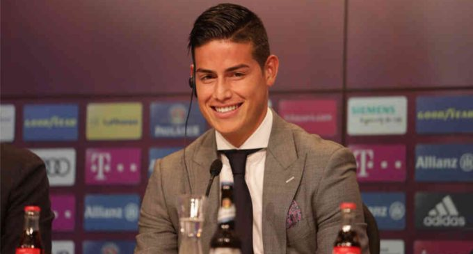 En video: Así fue la presentación de James como nueva estrella del Bayern