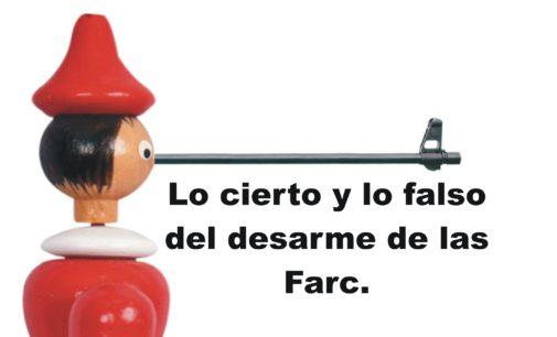 Lo cierto y lo falso del desarme de las Farc.