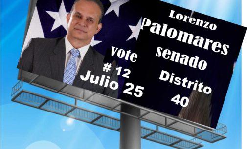 Lorenzo Palomares encabeza las estadísticas para el distrito 40