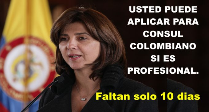 Usted puede aplicar para consul colombian@  LINK AQUI si es profesional.