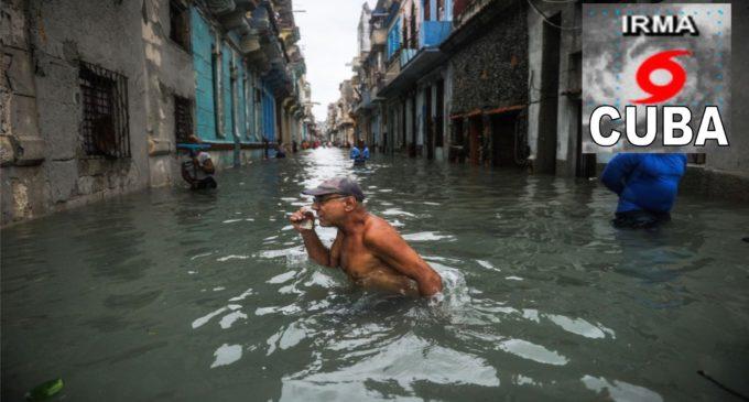 Cuba, inundada y sin servicio eléctrico por el huracan Irma