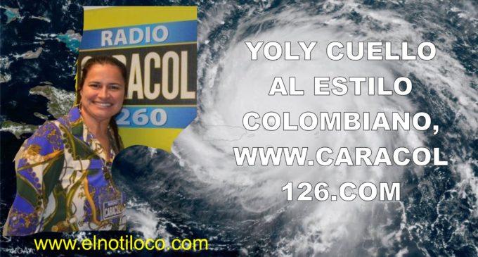 Yoly Cuello desde Miami , al estilo colombiano, todo en   www.caracol 126.com