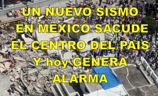 Un nuevo sismo en Mexico sacude el centro del pais y genera alarma hoy