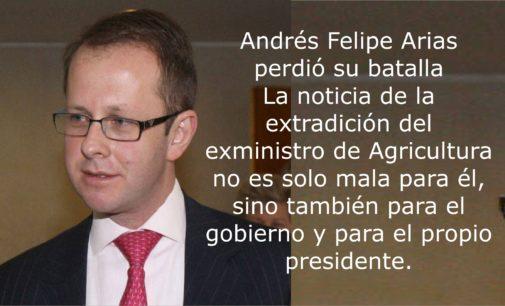 La llegada a Colombia del ex ministro Arias, es mala para el presidente  Santos