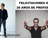 Felicitaciones Gato Rodriguez en sus 28 años de profesion