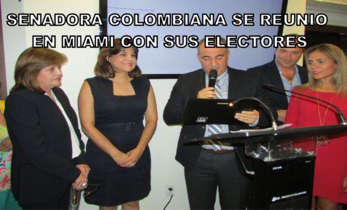 Senadora colombiana descalza en la Casa Blanca , celebro su elección en el consulado, las fotos