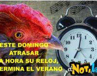Domingo, atrasar una hora el reloj,  (Rafael Pineyro, al concejo de Doral).