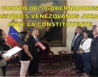 Cuatro de 5 gobernadores opositores venezolanos juraran ante la Constituyente