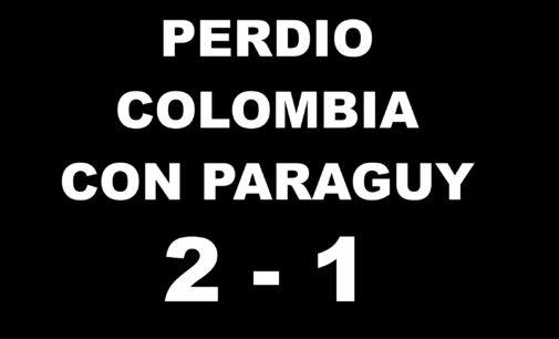 Perdio Colombia , con Paraguay gol de Falcao  1 -2